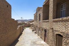 老Kharanagh村庄在亚兹德,伊朗 库存图片