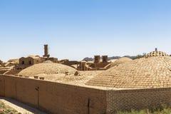 老Kharanagh村庄在亚兹德,伊朗 免版税图库摄影