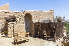 老Kharanagh村庄在亚兹德,伊朗 库存照片