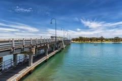 老Mandurah桥梁 免版税图库摄影
