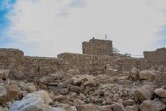 老masada堡垒的废墟 库存图片