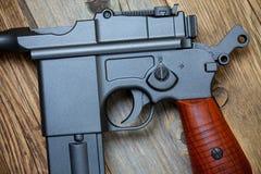 老Mauser手枪枪 库存图片