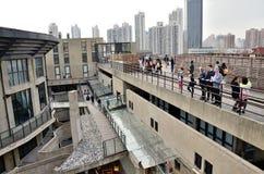 老millfun屋顶1933年在上海 库存图片