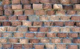 老parished砖墙 免版税库存照片