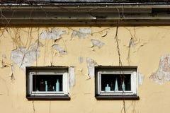 老ramshacke大厦Windows  免版税库存照片