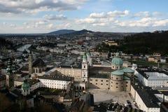 老s萨尔茨堡城镇 库存图片