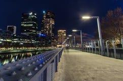 老Sandridge线路轨桥梁在墨尔本,澳大利亚 库存照片