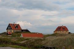 老skagen村庄在丹麦 库存照片