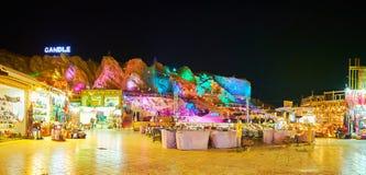 老Souk全景在Sharm El谢赫,埃及 库存照片
