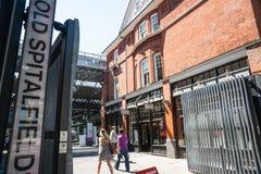 老Spitalfields市场门。 免版税库存照片