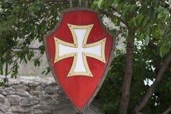 老templar盾骑士设备照片 库存照片