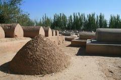 老Uyghur坟茔在喀什 免版税库存图片