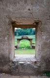 老Wang Wiwekaram寺庙水下的寺庙 图库摄影