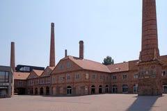 老Zsolnay工厂转换了成Zsolnay中心在佩奇匈牙利 免版税库存图片