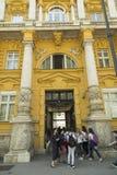 考古学博物馆在萨格勒布,克罗地亚 免版税库存图片