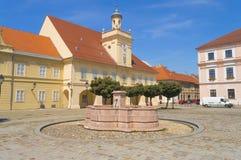 考古学博物馆的大厦在奥西耶克,克罗地亚 免版税库存照片