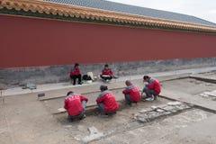 考古学家在故宫,北京 免版税库存图片