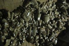 考古学家恢复的中国士兵 库存图片