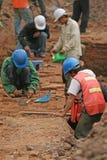 考古学工作 库存照片
