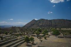 考古学废墟在墨西哥 库存照片