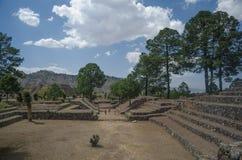 考古学废墟在墨西哥 免版税库存照片