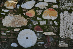 考古学开掘样式墙壁 免版税库存图片