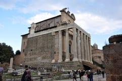 考古学挖掘在罗马广场,罗马,意大利 免版税图库摄影
