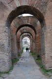 考古学挖掘在罗马广场,罗马,意大利 免版税库存照片