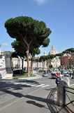 考古学挖掘在罗马广场,罗马,意大利 库存图片