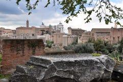 考古学挖掘在罗马广场,罗马,意大利 免版税库存图片