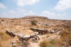 考古学挖掘在以色列 库存图片