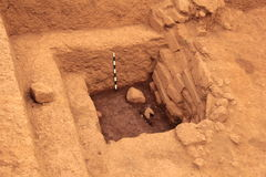 考古学挖掘站点 免版税图库摄影