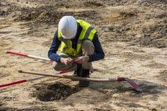 考古学挖掘Driebergen 免版税图库摄影