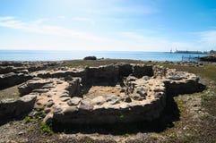 考古学站点在加那利群岛 免版税库存图片