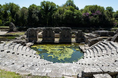 考古学站点在阿尔巴尼亚 库存图片