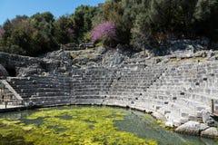 考古学站点在阿尔巴尼亚 免版税图库摄影