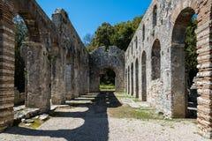 考古学站点在阿尔巴尼亚 免版税库存图片
