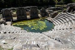 考古学站点在阿尔巴尼亚 免版税库存照片