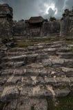 考古学站点, Tulum,在金塔纳罗奥州,墨西哥 库存图片