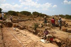考古学站点 免版税库存照片