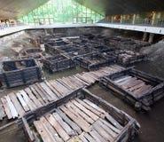 考古学站点Berestye在布雷斯特 免版税库存图片