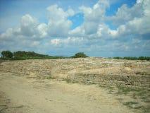 考古学站点Kerkouane,突尼斯 免版税图库摄影