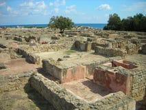考古学站点Kerkouane,突尼斯 免版税库存照片