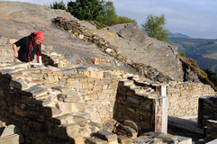 考古学阿斯图里亚斯挖掘 免版税库存照片