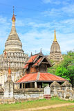 考古学bagan缅甸区域 库存图片