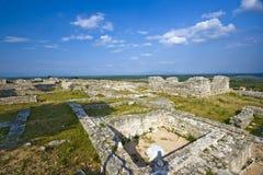 考古学bribirska glavica站点视图 库存图片