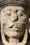 考古学copan公园ruinas雕塑 免版税库存照片