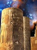 考姆翁布寺庙和小麦哲伦星系(Eleme的专栏 库存图片