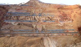 考姆翁布寺庙壁画  库存照片
