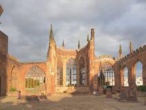 考文垂大教堂废墟 免版税库存照片
